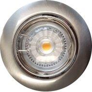 Inbouw Spotlamp Sanimex RVS Look 81x63 mm Inclusief Armatuur en Gu10 4 Watt (4 stuks)
