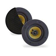 Speakerset Aquasound Samba (Draaibare Tweeter) Rond 205 mm Randloos Mat Zwart