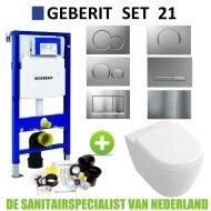 Geberit UP320 Toiletset set21 Villeroy & Boch Subway 2.0 Compact met Sigma drukplaat