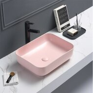 Waskom Sanilux Minerva Color Line 50x39x13 cm Inclusief Click Waste Mat Pastel Roze