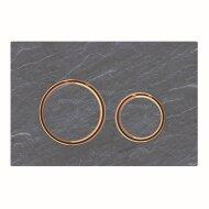 Bedieningsplaat Geberit Sigma 21 voor 2-toets Spoeling Rosé Goud  Mustang Leisteen