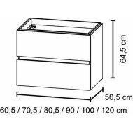 Bruynzeel Miko Wastafelonderkast 100x50.5 Cm. Mat Wit