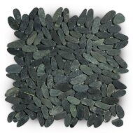 Mozaiek Mat Pebble Oval Tumb Honed S Gray Sea Stone 30x30 cm (Prijs per 1m²)