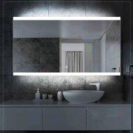 Badkamerspiegel Boss & Wessing Riga met LED Verlichting en Spiegelverwarming 100x70 cm
