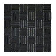 Mozaiek Parquet 1x4.8 30x30 cm Marmer Donker Grijs (doosinhoud 1 m2)