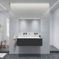 Badkamermeubelset Gliss Eros 120 cm Met Wastafel Met 2 Lades Zwart Eiken