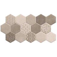 Hexagon Vloertegel Habitat Hex Ice 26.5x51 cm (doosinhoud 0.95 m2)