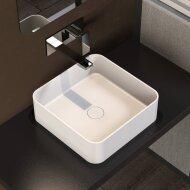Opbouwwastafel Ideavit Solidthin 40x40x12.5 cm Solid Surface Mat Wit