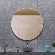 Spiegel Gliss Design Oko Koper Rond LED Verlichting 80 cm