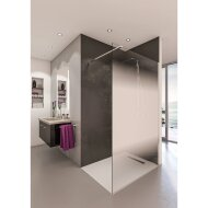 Inloopdouche BWS Free Time 140x200 cm Mist Glas Timeless Coating Chroom
