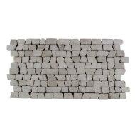 Mozaiek Brick Mosaic Cream Tumble Marmer 30x15cm (Prijs per 1m²)