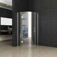 Douchecabine Wiesbaden kwartrond 1 deur LS 90x90cm 8mm NANO coating | Tegeldepot.nl