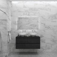 Badkamermeubelset Gliss Zeus 140 cm Zwart Eiken Met Waskom