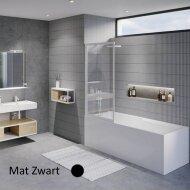 Badwand Riho Lucid GD501 Omkeerbaar Verstelbaar Aluminium 150x80 cm Mat Zwart