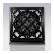 Deurrooster Weckx Retro Vierkant Aansluiting 150 cm Zwart
