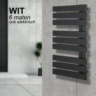Handdoekradiator IP Oslo Wit In 6 Verschillende Maten (Ook in elektrische uitvoering)