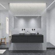 Badkamermeubelset Gliss Eros 180 cm Zwart Eiken Met Waskom