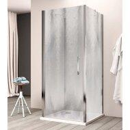 Douchecabine Lacus Giglio Fox Eéndelig 75 cm Chinchilla Glas Aluminium Profiel (2 zijwanden)