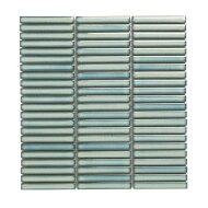Mozaïek Sevilla Kit-Kat 28.2x30.8 cm Geglazuurd Porselein, Glanzend Licht Groen Spikkels (Prijs Per 0.87 m2)