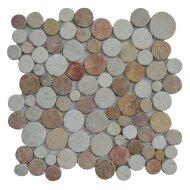 Mozaïek Coin Mix Onyx/Cream/Yucatan Brown Marmer 30x30 cm (Prijs per 1m²)
