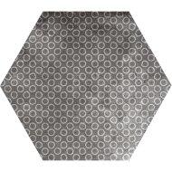 Hexagon Vloertegel Azulejo Decoratia Grijs 22.5x22.5 cm (doosinhoud 1.01m2 )