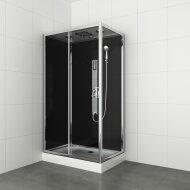 Douchecabine Allibert Gipsy 225x80x120 cm Rechthoek Hoekinstap Schuifdeuren 4mm Helder Glas