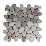 Mozaiek Mat Pebble Regular S Caramel Dark Pink Sea Stone 30x30 cm (Prijs per 1m²)