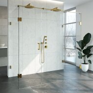 Douchecabine Compleet Just Creating Profielloos XL 100x200 cm Goud