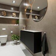 MONDIAZ TURE 120cm toiletmeubel urban. EDEN wastafel talc midden geen kraangat