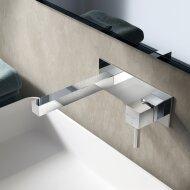 Wastafelmengkraan Hotbath Bloke inbouw 3+3 inbouwsysteem 1-hendel Uitloop Recht 16.4 cm Chroom