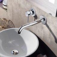Wastafelmengkraan Hotbath Buddy Inbouw 3+3 Inbouwsysteem 1-hendel Gebogen 16.4 cm Chroom