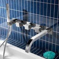 Badthermostaat Hotbath Bloke inbouw 2-weg met uitloop Chroom