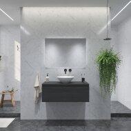 Badkamermeubelset Gliss Eros 100 cm Zwart Eiken Met Waskom