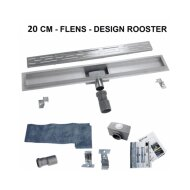 Douchegoot Boss & Wessing Fens met losse sifon RVS Standaard rooster 20cm