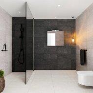 Spiegelkast BWS Valencia 80x70x16 cm met Deur Carrara Mat