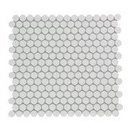 Mozaïek Venice Pennyround 31.5x29.4 cm Geglazuurd Porselein, Rond Glanzend Extra Wit (Prijs Per 0.93 m2)