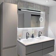 Badkamerspiegel Xenz Desenzano 80x70cm met Ledverlichting, Spiegelverwarming en Make-Up Spiegel