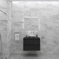 Badkamermeubelset Gliss Zeus 80 cm Zwart Eiken Met Waskom