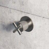 Stopkraan Hotbath Chap Inbouw voor Thermostaat Geborsteld Nikkel (excl. inbouwdeel)