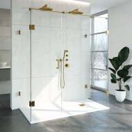 Douchecabine Compleet Just Creating Profielloos XL 90x180 cm Goud