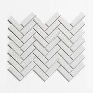 Mozaïek Paris 24.7x31.8 cm Geglazuurd Porselein, Visgraat En Glanzend Extra Wit (Prijs Per 0.79 m2)