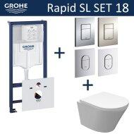 Grohe Rapid SL Toiletset set18 Wiesbaden Vesta Junior Rimless met Grohe Arena of Skate drukplaat