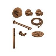 Thermostatisch Inbouwdoucheset Brauer Copper 20cm Hoofddouche Wandarm Staafhanddouche Koper