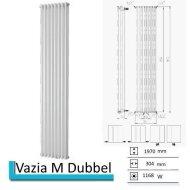 Designradiator Vazia M Dubbel 1970 x 304 mm Wit Structuur