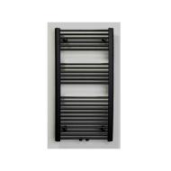 Radiator Sanicare Middenaansluiting Recht 810 Watt Inclusief Ophanging 120x60 cm Mat Zwart