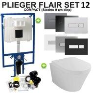 Plieger Flair Compact Toiletset set12 Wiesbaden Vesta met Flair drukplaat