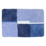 Badmat Differnz Cubes Antislip 60x90 cm Microfiber Blauw