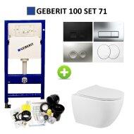 Geberit UP100 Toiletset set71 Sanindusa Sanibold met Delta Drukplaat