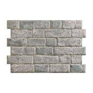 Wandtegel Brick Cinza Grey 33x47x1cm Wildverband Mat grijs (doosinhoud 1.1m²)