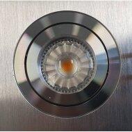 Inbouw Spotlamp Sanimex 92x73 mm Inclusief Armatuur en Gu10 4 Watt Aluminium Geborsteld (5 stuks)